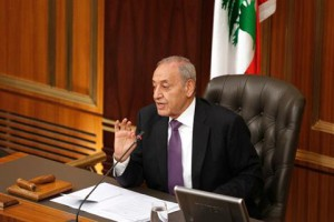 File photo of Speaker Nabih Berri at Parliament in Beirut. (The Daily Star/Mahmoud Kheir)