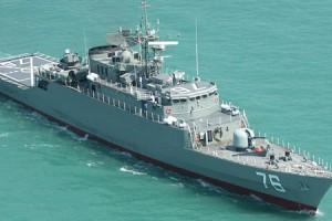 Irans-first-domestically-built-destroyer-Jamaran