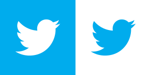 Twitter bird white blue