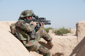 Clearing operation in Kandahar province