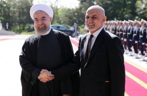 Afghanistan president Mohammad Ashraf Ghani is in Tehran