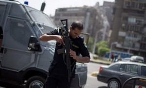 Egyptian police officer, special forces, in Cairo 3 July 2013
