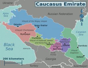 caucasus emirate map w vilayats