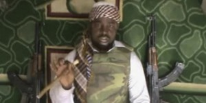 FILE - This file image made available from Wednesday, Jan. 10, 2012, taken from video posted by Boko Haram sympathizers shows Imam Abubakar Shekau, the leader of the radical Islamist sect. Boko Haram militants dressed as soldiers slaughtered at least 200 civilians in three villages in northeastern Nigeria and the military failed to intervene even though it was warned that an attack was imminent, witnesses said on Thursday, June 5, 2014. (AP Photo/File) THE ASSOCIATED PRESS CANNOT INDEPENDENTLY VERIFY THE CONTENT, DATE, LOCATION OR AUTHENTICITY OF THIS MATERIAL