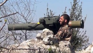 A militant operates a TOW anti-tank rocket launcher in Syria. (File photo)