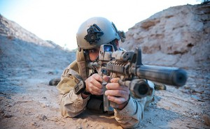 CPRK3W US Navy SEALs during desert combat training