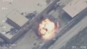 air strike footage
