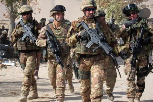 Italian troops in Afghanistan International Security Assistance Force (ISAF) North Atlantic Treaty Organization or NATO Taliban War Terrorism patrolling fighting conflict soldiers army  (1)
