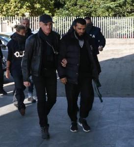 Gaffur Dibrani, l'uomo kosovaro di 24 anni arrestato a Brescia con l'accusa di apologia di terrorismo, 3 novembre 2016. ANSA/ FILIPPO VENEZIA