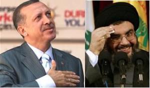Recep Tayyip Erdogan and Hassan Nasrallah