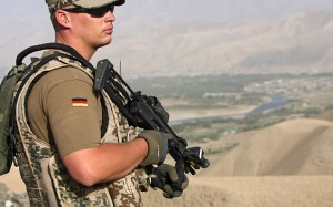 C2E2TR A Bundeswehr soldier of the ISAF patrol, Feyzabad, Afghanistan